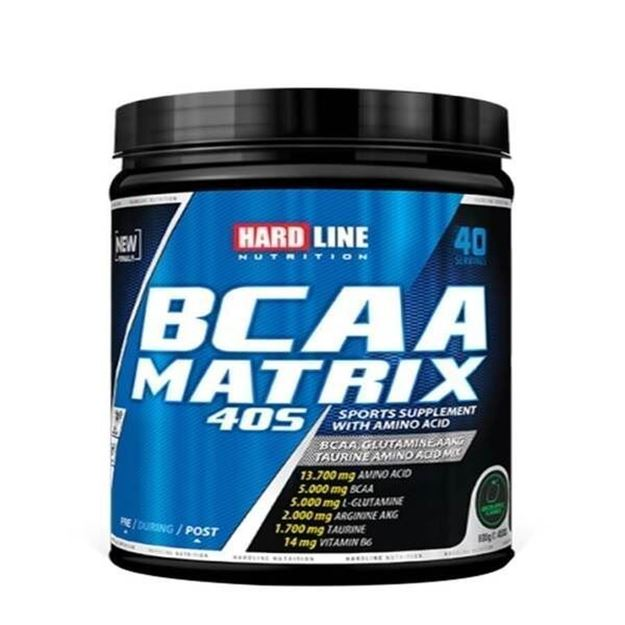 Picture of Hardline BCAA Matrix 40S (Green Apple- 600gr )