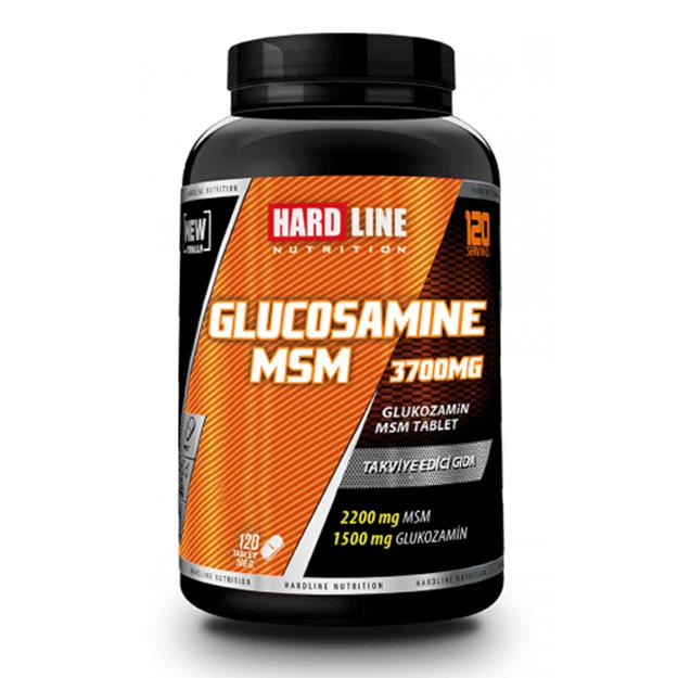 Picture of Hardline Glucosamine Msm 120 Tablet